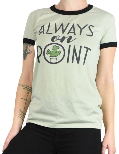 Item - Green XS Always On Point Cactus Graphic Tee Shirt Size 2 (XS)