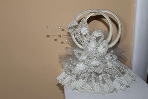 White with Pearls Cake Topper