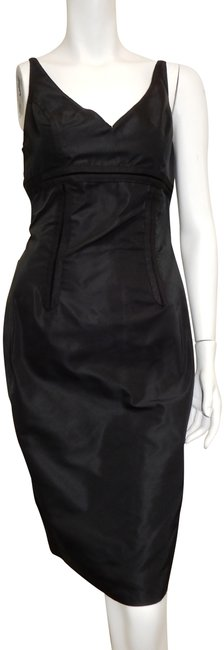 Item - Black Made In Italy Short Cocktail Dress Size 6 (S)