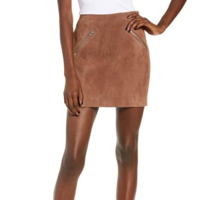Item - Brown Suede with Zipper Detail Skirt Size 2 (XS, 26)