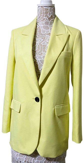 Item - Neon Yellow Suit Blazer Size 4 (S)