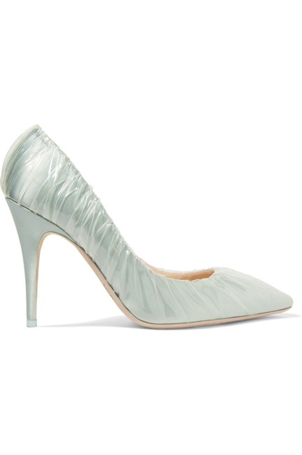 Item - Green New Off-white Collab Anne 100 Pvc Satin Pumps Size EU 40 (Approx. US 10) Regular (M, B)