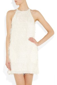 Item - White Ivory Eyelash Fringe  Cocktail Dress