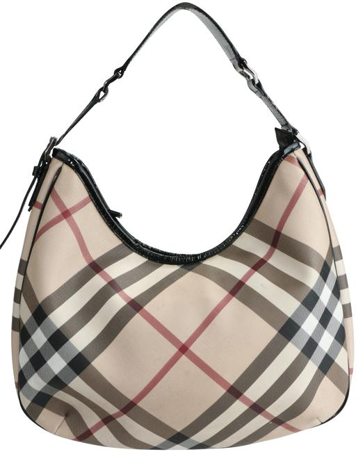 Item - Nova Check Medium Barton Multicolor Canvas Hobo Bag