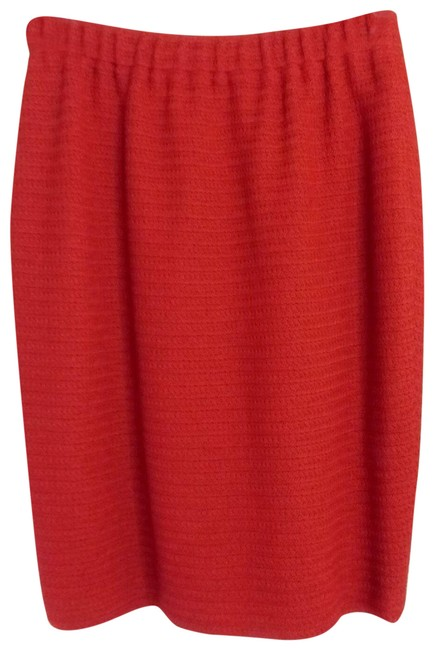 Item - Orange Santana Knit Pencil Skirt Size 10 (M, 31)