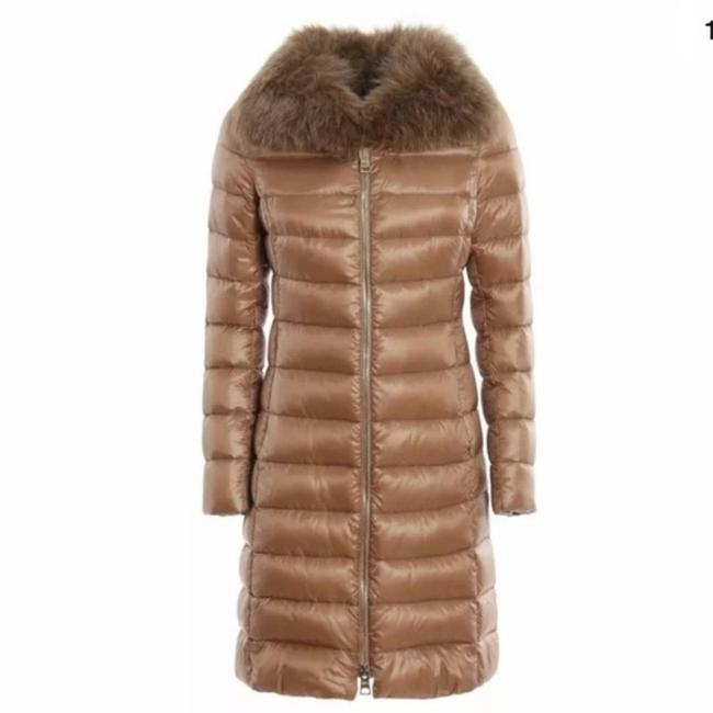 Herno Tan Elisa Puffer with Removable Fox Fur Collar Coat Size 2 (XS) Herno Tan Elisa Puffer with Removable Fox Fur Collar Coat Size 2 (XS) Image 1