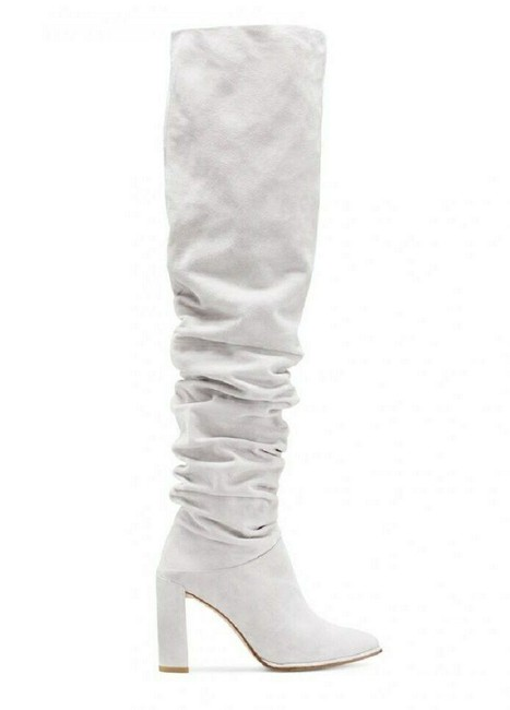 Item - Light Gray Women's Histyle Perla Suede Over-the-knee 6m Boots/Booties Size US 6 Regular (M, B)