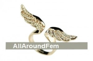 All Around Fem Angel wing in Gold & Rhinestone Fast Shipping Affo