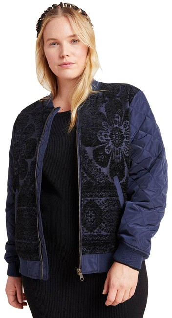 Item - Blue New Clemence Quilted Bomber Jacket Size 20 (Plus 1x)