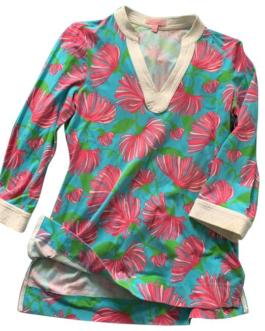Item - Blue White Pink Green 88189 Tunic Size 4 (S)