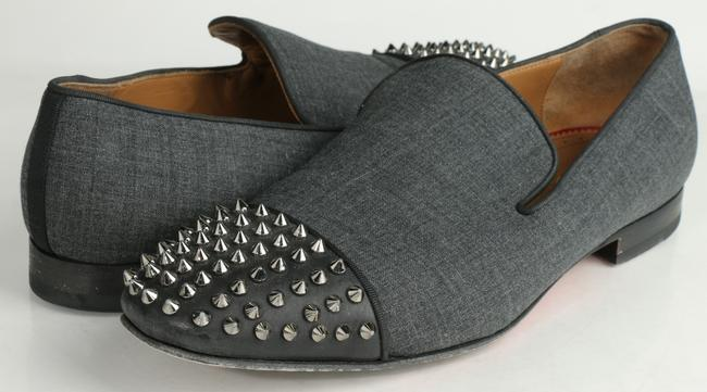 Item - Gray Spooky Spike Nylon Loafers Shoes