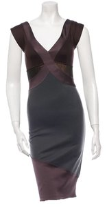 VPL Stretch Bodycon Gold Brown Party Dress
