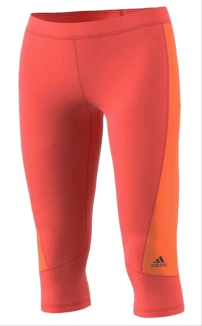 Item - Easy Coral/Glo Orange Techfit Climalite Capri Activewear Bottoms Size 4 (S)