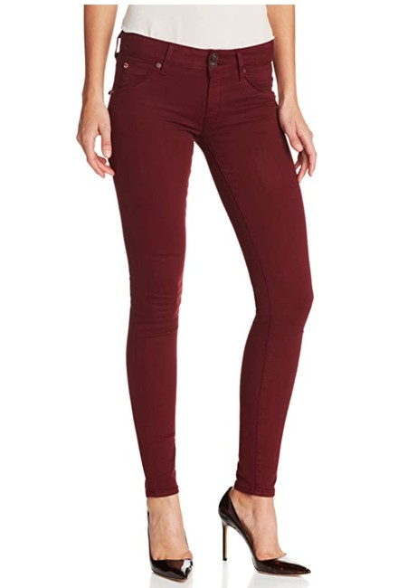 Item - Red (Maroon) Medium Wash Women's Midrise Collin In Crimson Skinny Jeans Size 26 (2, XS)