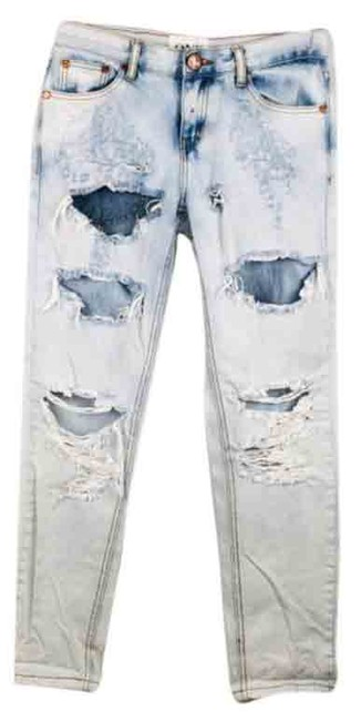 Item - Blue Light Wash Awesome Baggies Tapered Rolled Cuff 22 Relaxed Fit Jeans Size 23 (00, XXS)