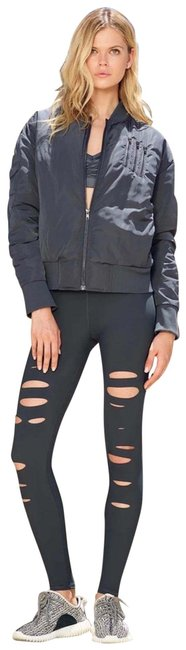 Item - Gray High-waist Ripped Warrior In Anthracite Leggings Size 8 (M, 29, 30)