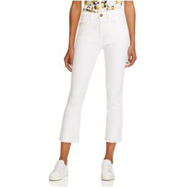 Item - White Light Wash The Kick In Sugar with Raw Hem Capri/Cropped Jeans Size 27 (4, S)