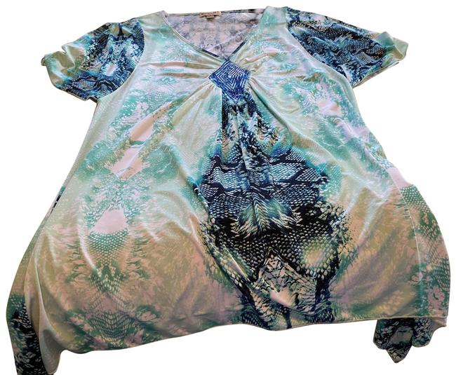 Item - Green and Blue Snakeskin Tunic Size 4 (S)
