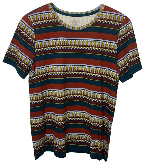 Item - Red L Striped Ryder T-shirt Multi-color Tee Shirt Size 12 (L)