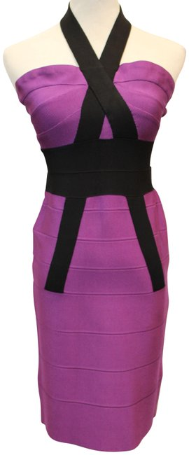 Item - Magenta Body Con Knit Halter Short Night Out Dress Size 8 (M)