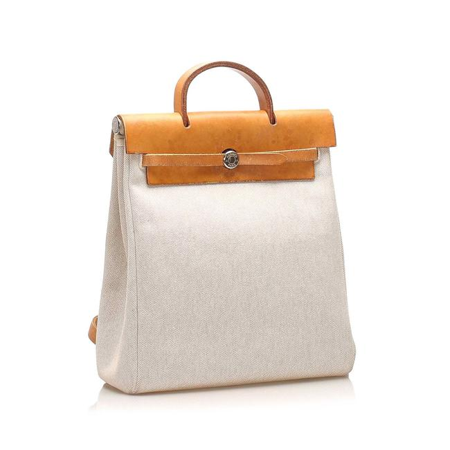 Item - Herbag Canvas Brown Leather Backpack