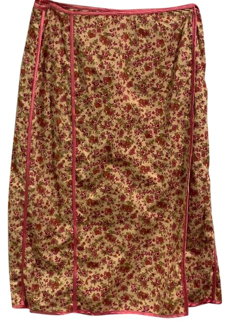 Item - Pink Floral Wrap Skirt Size 6 (S, 28)