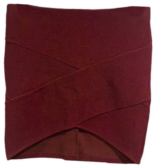 Item - Red Stretchy Skirt Size 8 (M, 29, 30)