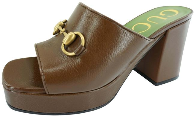 Item - Brown Houdan Square Toe Platform Sandals Mules/Slides Size EU 36 (Approx. US 6) Regular (M, B)