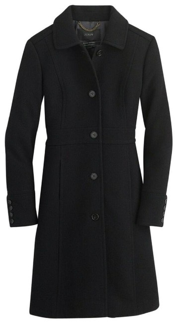Item - Black Double-cloth Wool Lady Day Thinsulate Coat Size 12 (L)
