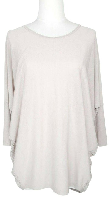 Item - Pink Pullover S Lace Open Knit Back Dolman Sleeve Blouse Size 4 (S)