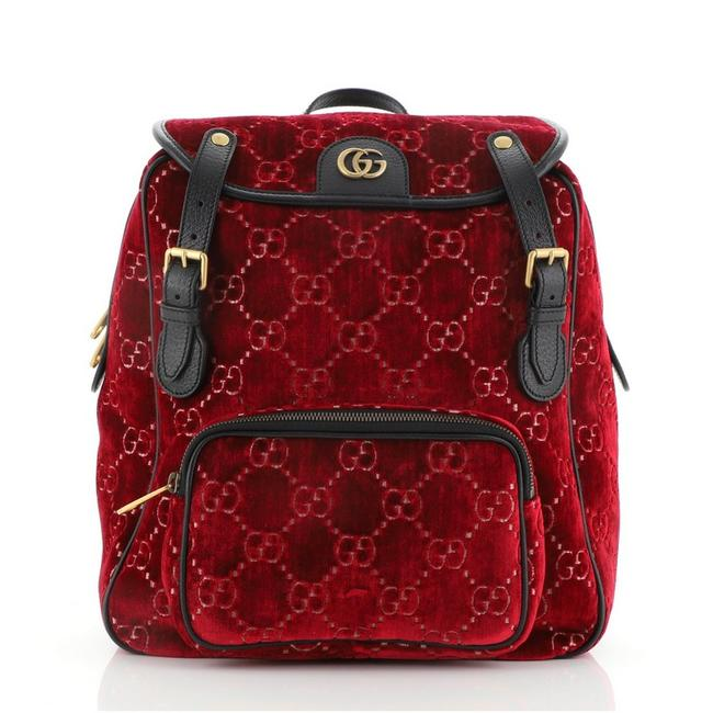 Item - GG Marmont Small Red Velvet Backpack