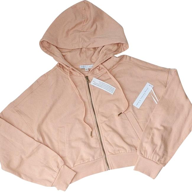 Item - Peach M Full Zip Front Cropped Activewear Outerwear Size 8 (M)