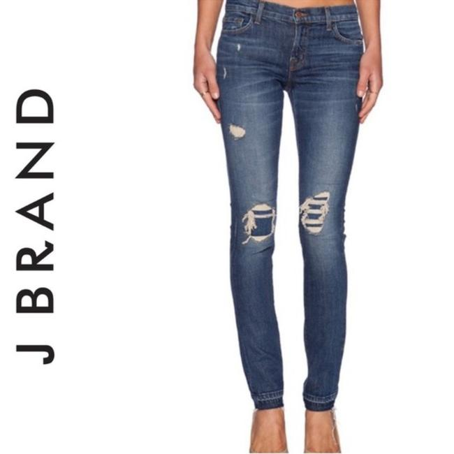 Item - Distressed Ellis In Villain Denim Skinny Jeans Size 00 (XXS, 24)