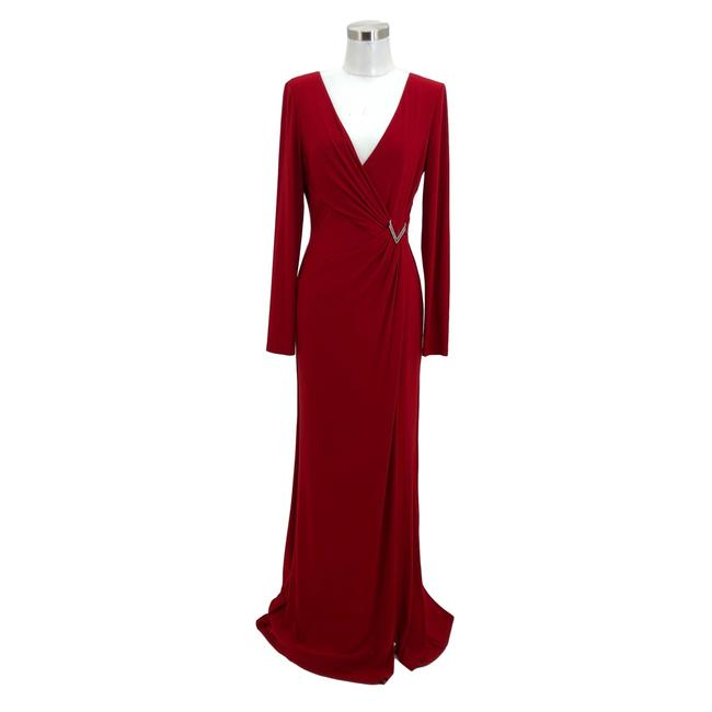Item - Red N482 Small Evening Gown Maxi Long Formal Dress Size 6 (S)
