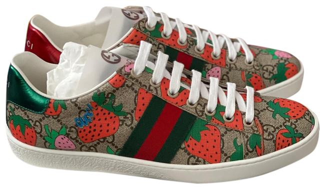 Item - Multicolor Beige Gg Supreme Strawberry Ace Sneakers Size EU 38 (Approx. US 8) Regular (M, B)