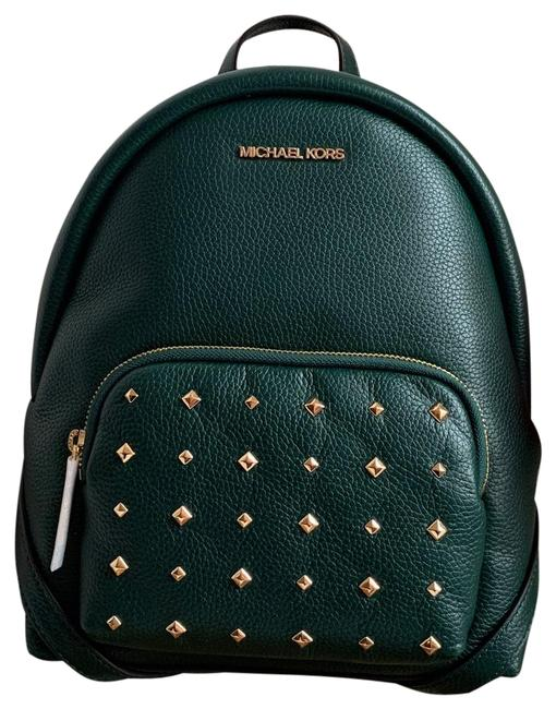Item - Erin Studed Medium Racing Green Leather Backpack