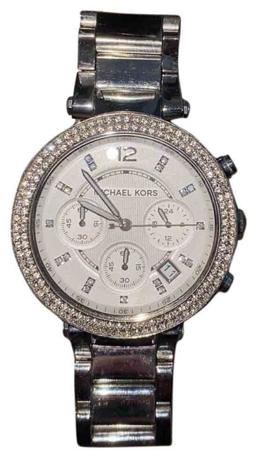 Item - Silver/Stainless Steel Parker with Glitz Accents Watch