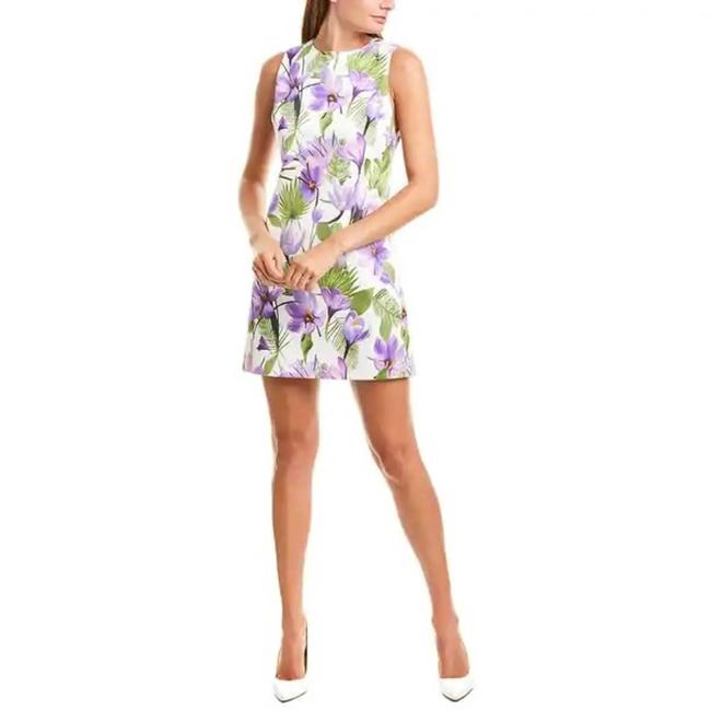 Item - White Coley Floral Palm Sleeveless Short Casual Dress Size 6 (S)