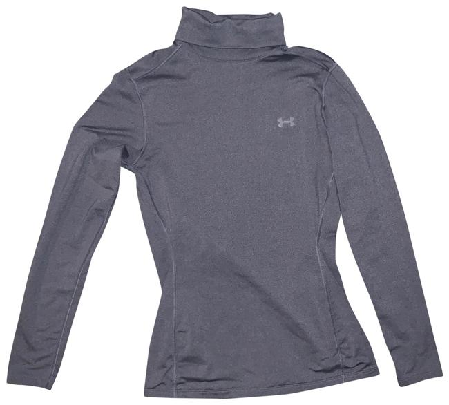 Item - Grey Cold Gear Fitted Turtle Neck Activewear Top Size 8 (M)