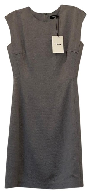 Item - Grey/Silver Structured Fitted Short Work/Office Dress Size 0 (XS)
