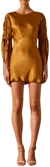 Item - Gold Wright Mini Short Night Out Dress Size 4 (S)