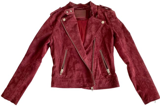 Item - Red Suede Jacket Size 0 (XS)