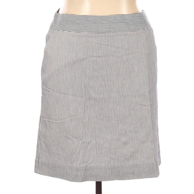 Item - Blue White Straight Skirt Size 14 (L, 34)