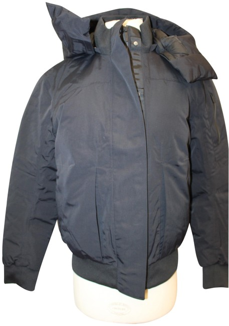 Item - Black Winter Warrior Bomber Down Removable Hooded Coat Activewear Outerwear Size 8 (M)