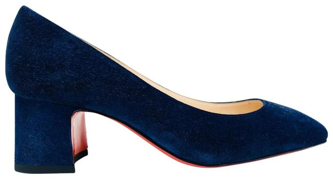 Item - Navy Donna Stud Suede Leather Chunky Pumps Size EU 35.5 (Approx. US 5.5) Regular (M, B)