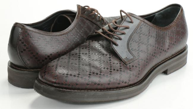 Item - Brown Diamente Lace-up Loafers Shoes