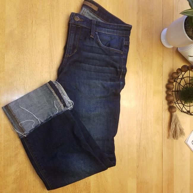 Item - Dark Blue Rinse Thqed15819 Capri/Cropped Jeans Size 27 (4, S)