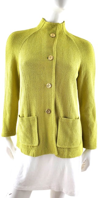 Item - Green Collection Light Lime Collared Jacket Size 4 (S)