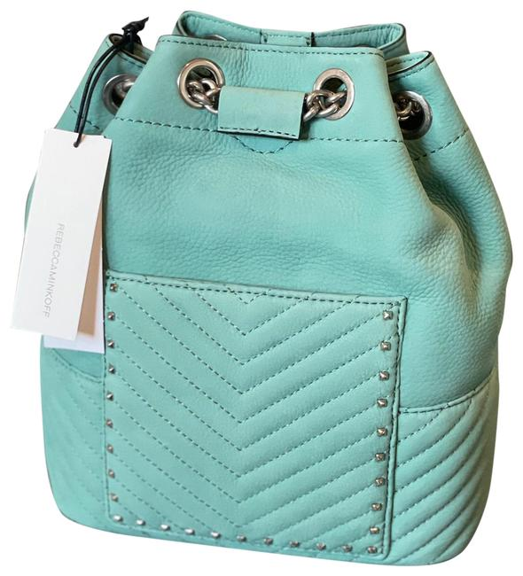 Item - Becky Convertible Dusty Green / Teal Suede Leather Backpack