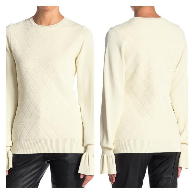 Item - Patterned Knit with Flare Cuffs Ivory Sweater